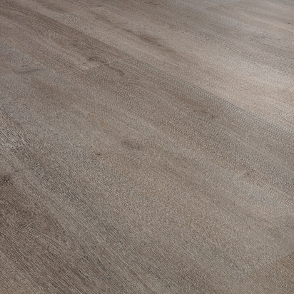 Closeup view of a floor with Pismo vinyl flooring installed