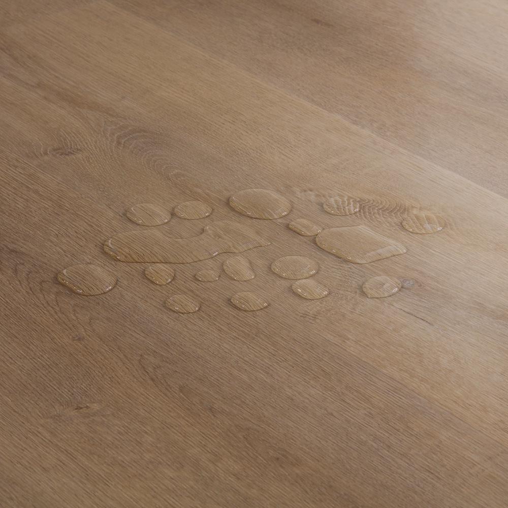 Closeup view of a floor with Coronado vinyl flooring installed
