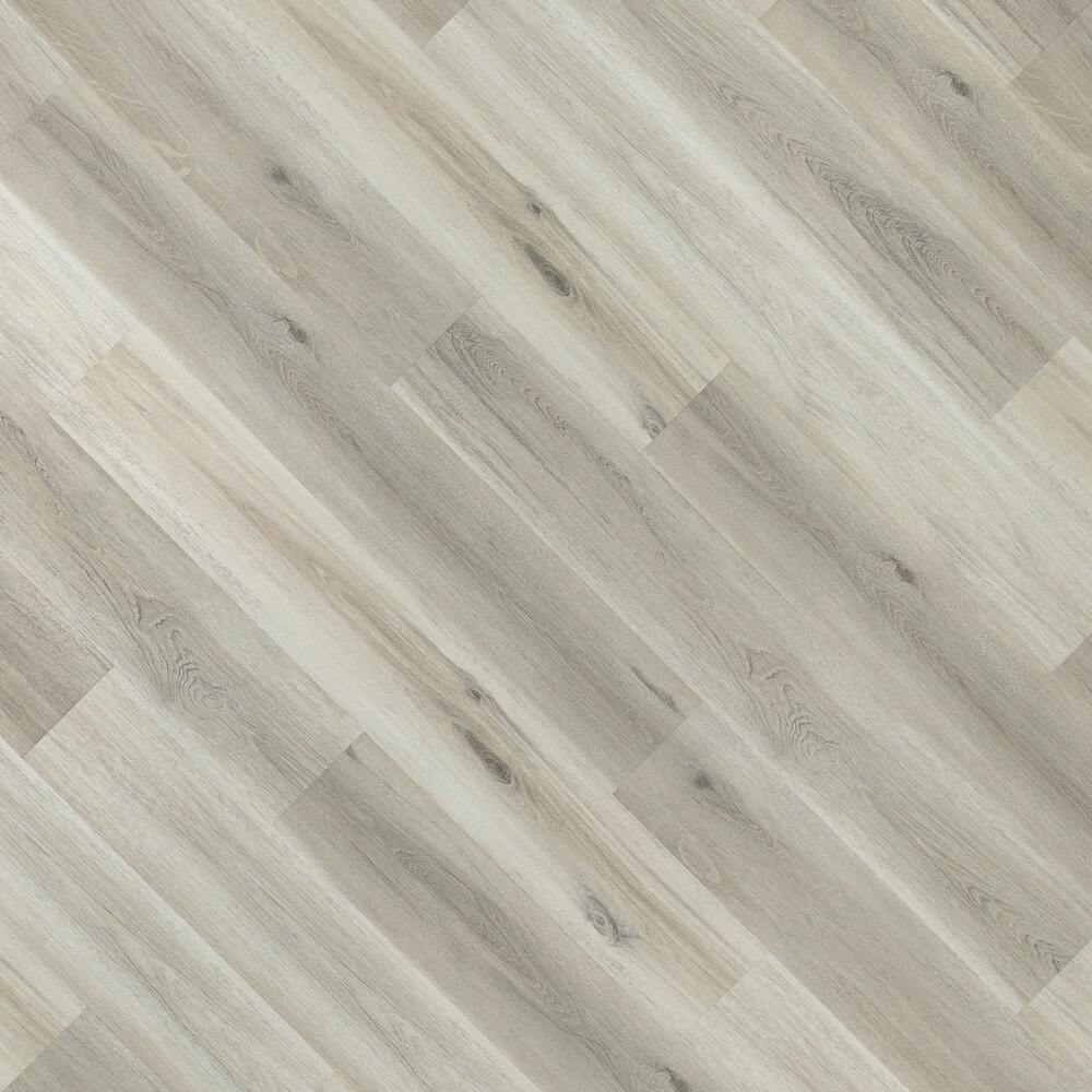 Closeup view of a floor with Pearl vinyl flooring installed