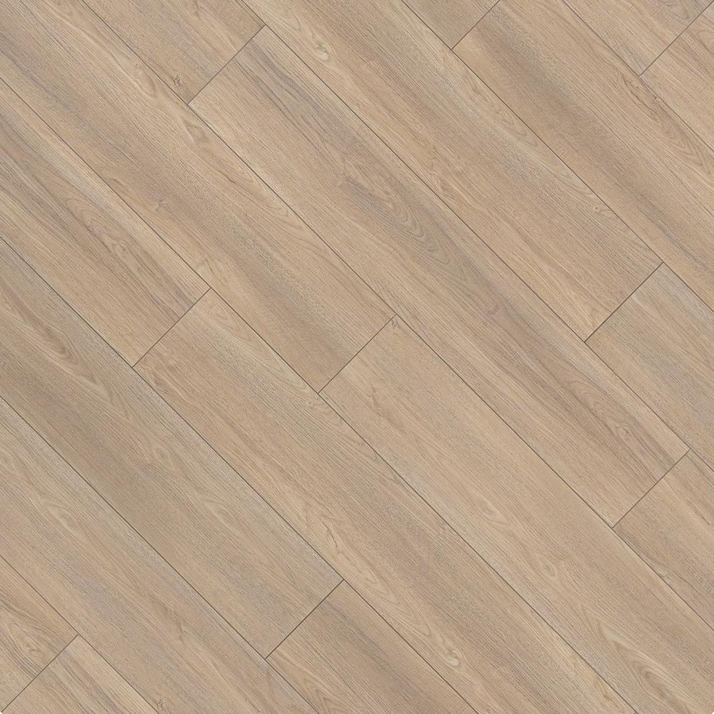 Closeup view of a floor with Scandinavian Brown - Scratch Resistant Waterproof Floating Floor vinyl flooring installed