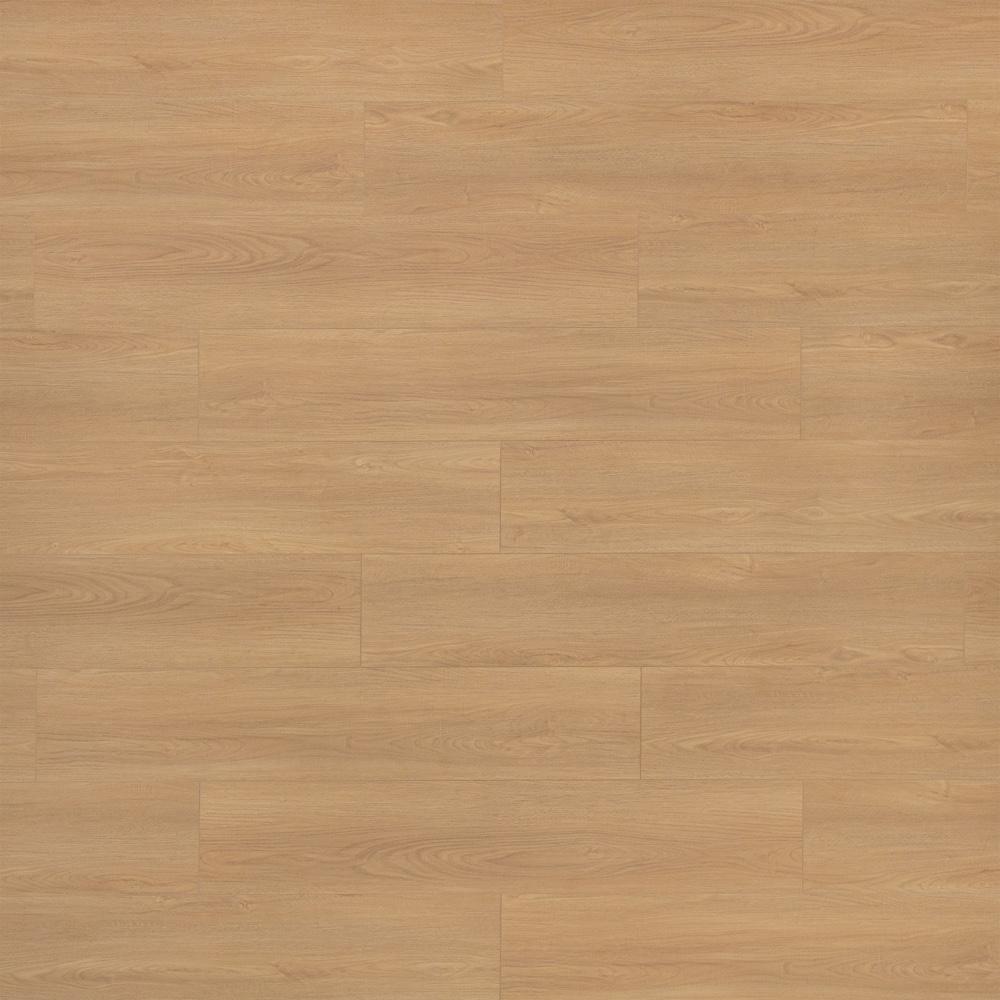 Closeup view of a floor with Belvedere Cream vinyl flooring installed