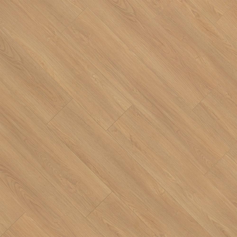 Closeup view of a floor with Belvedere Cream - Scratch Resistant Waterproof Floating Floor vinyl flooring installed