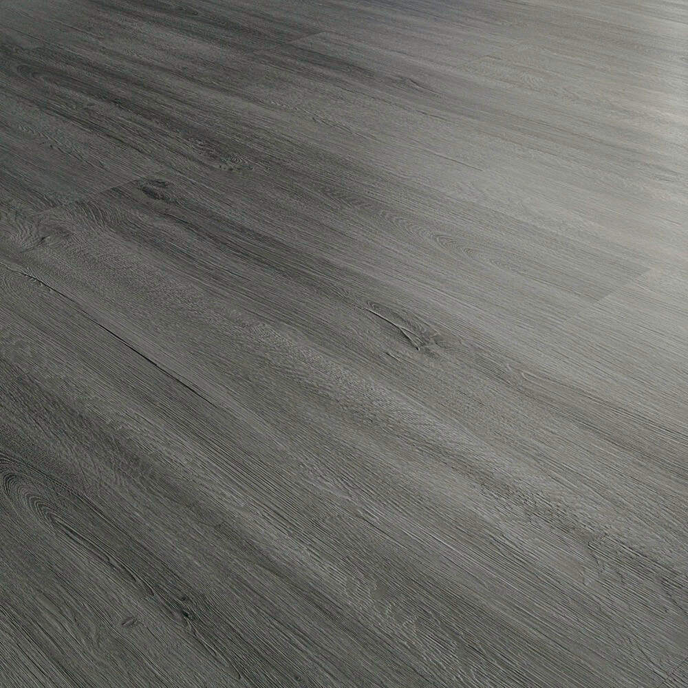 Closeup view of a floor with Cloud vinyl flooring installed