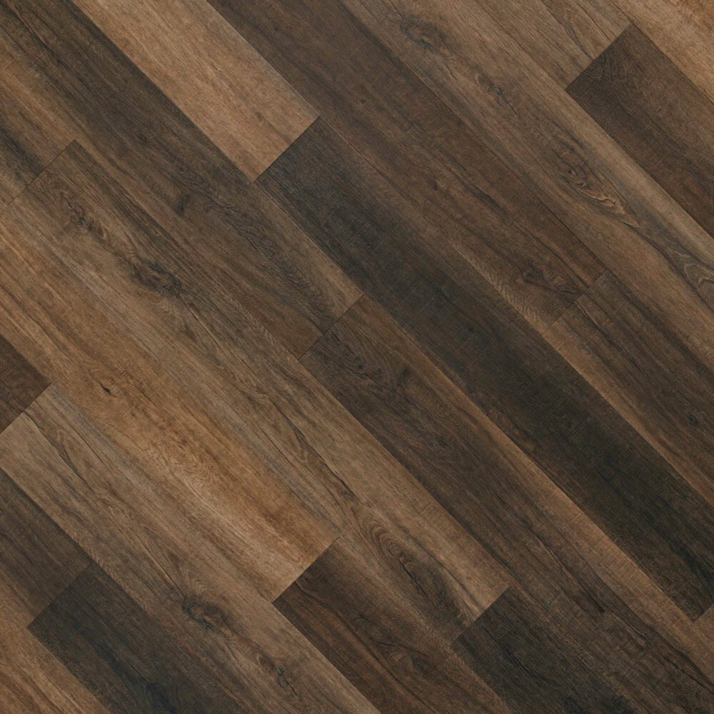 Closeup view of a floor with Pike vinyl flooring installed