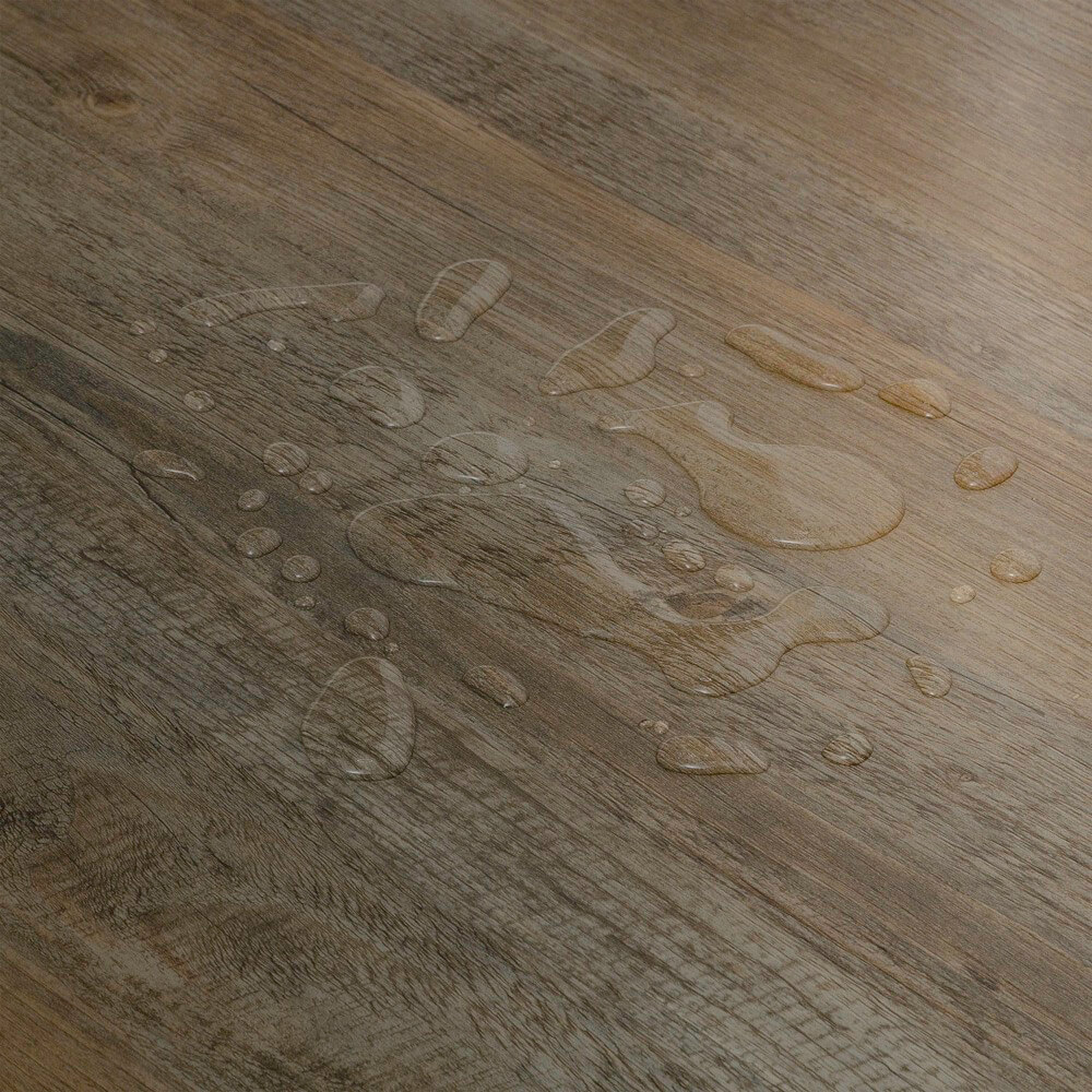 Closeup view of a floor with Timber vinyl flooring installed