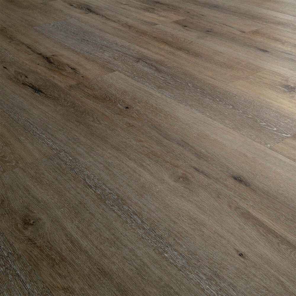 Closeup view of a floor with Sedona vinyl flooring installed