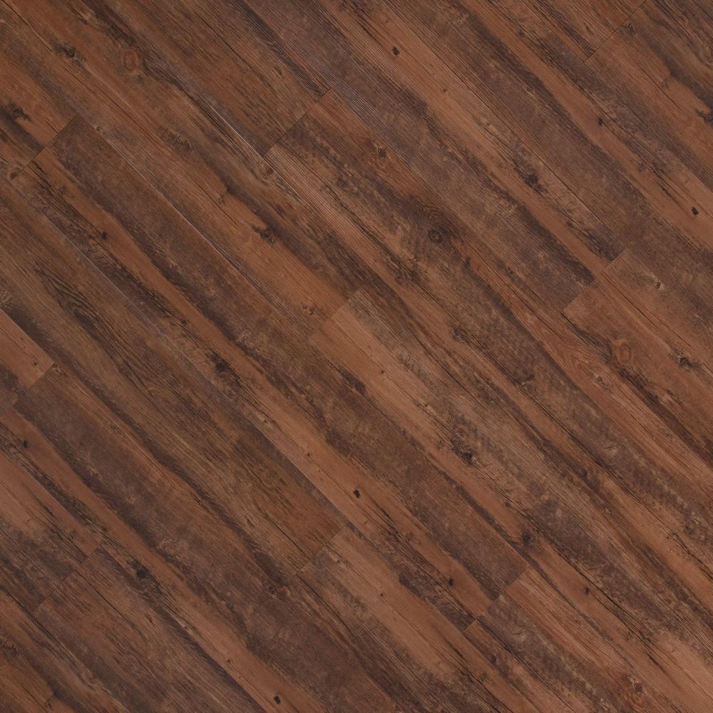 Closeup view of a floor with Cedar vinyl flooring installed