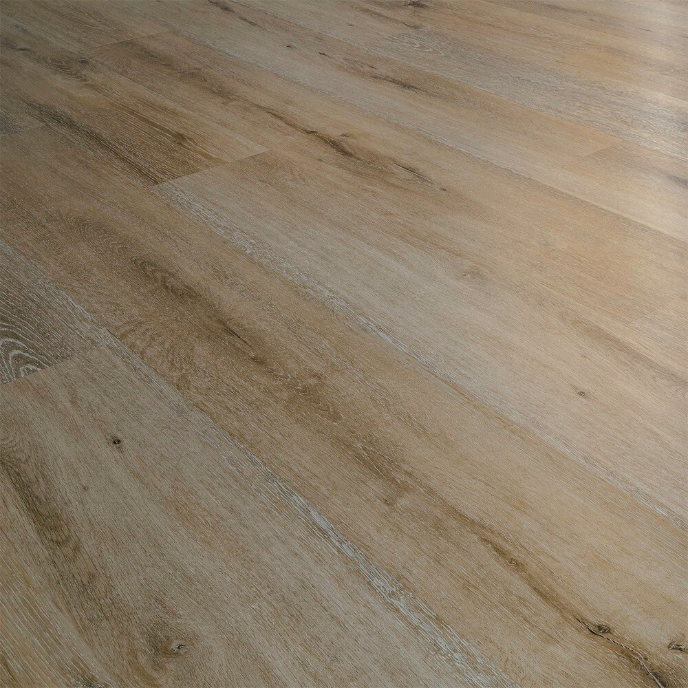 Closeup view of a floor with Dakota vinyl flooring installed