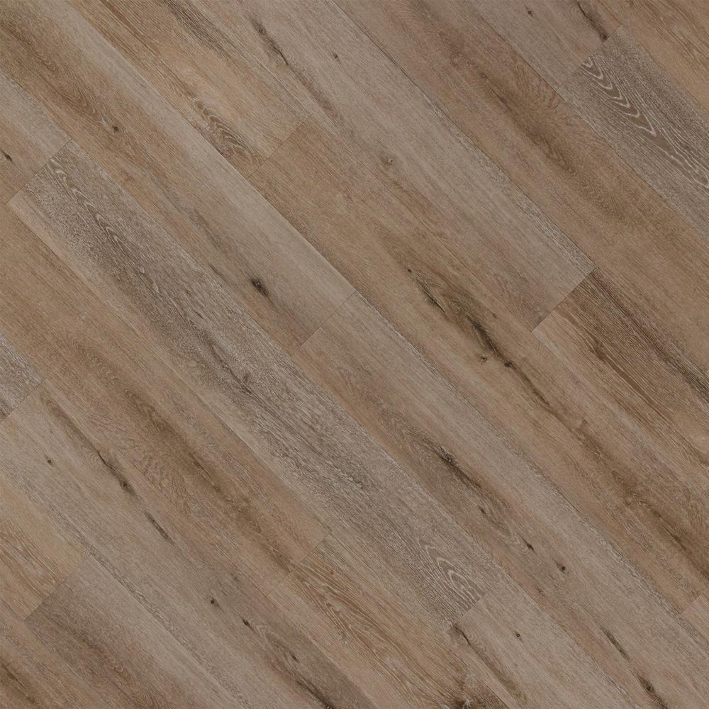 Closeup view of a floor with Dakota vinyl flooring installed