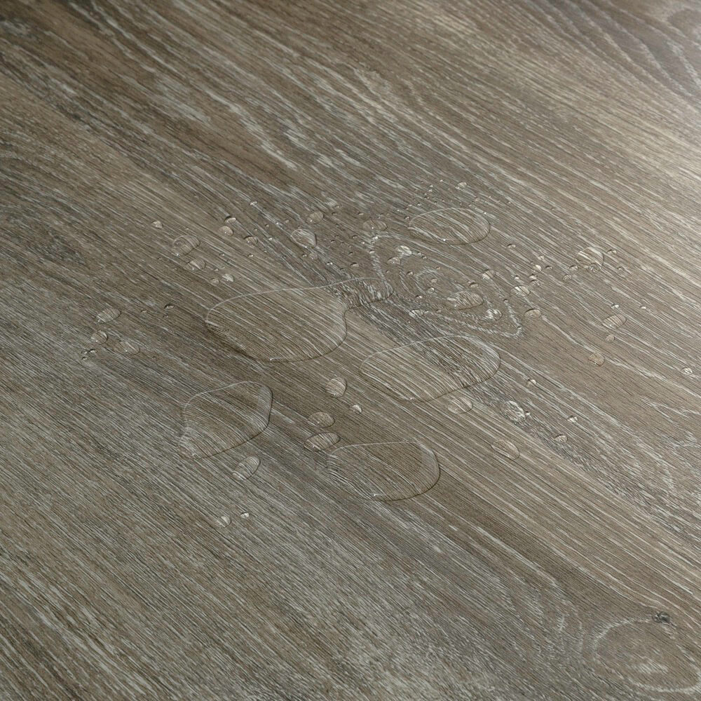Closeup view of a floor with Rockport vinyl flooring installed