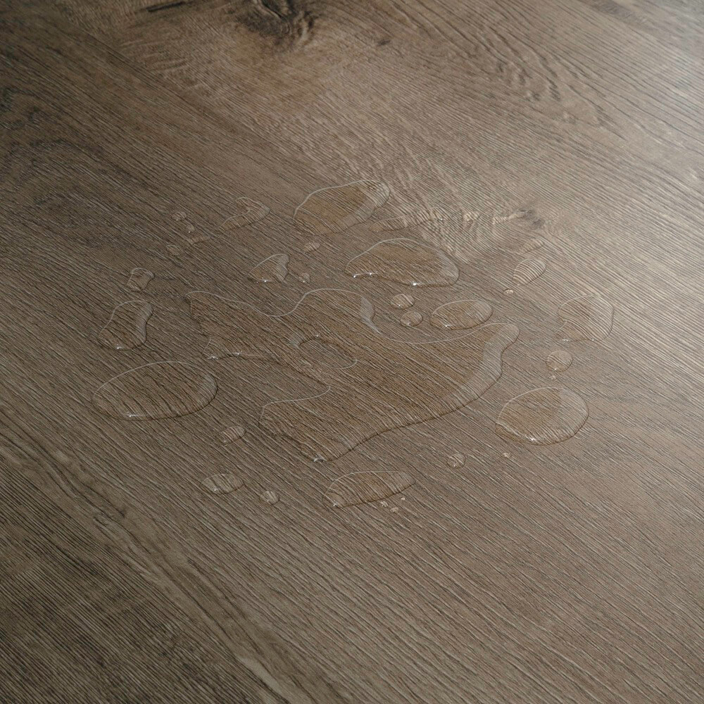 Closeup view of a floor with Kenwood vinyl flooring installed