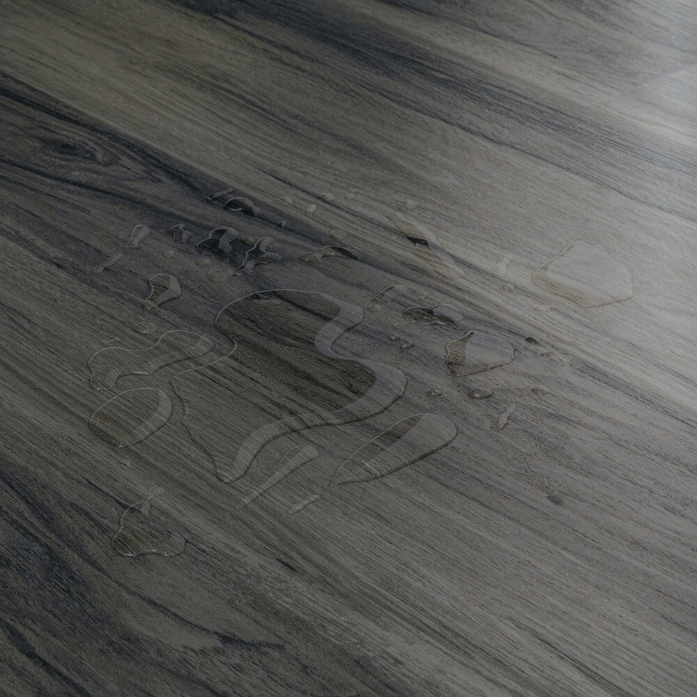Closeup view of a floor with Denali vinyl flooring installed