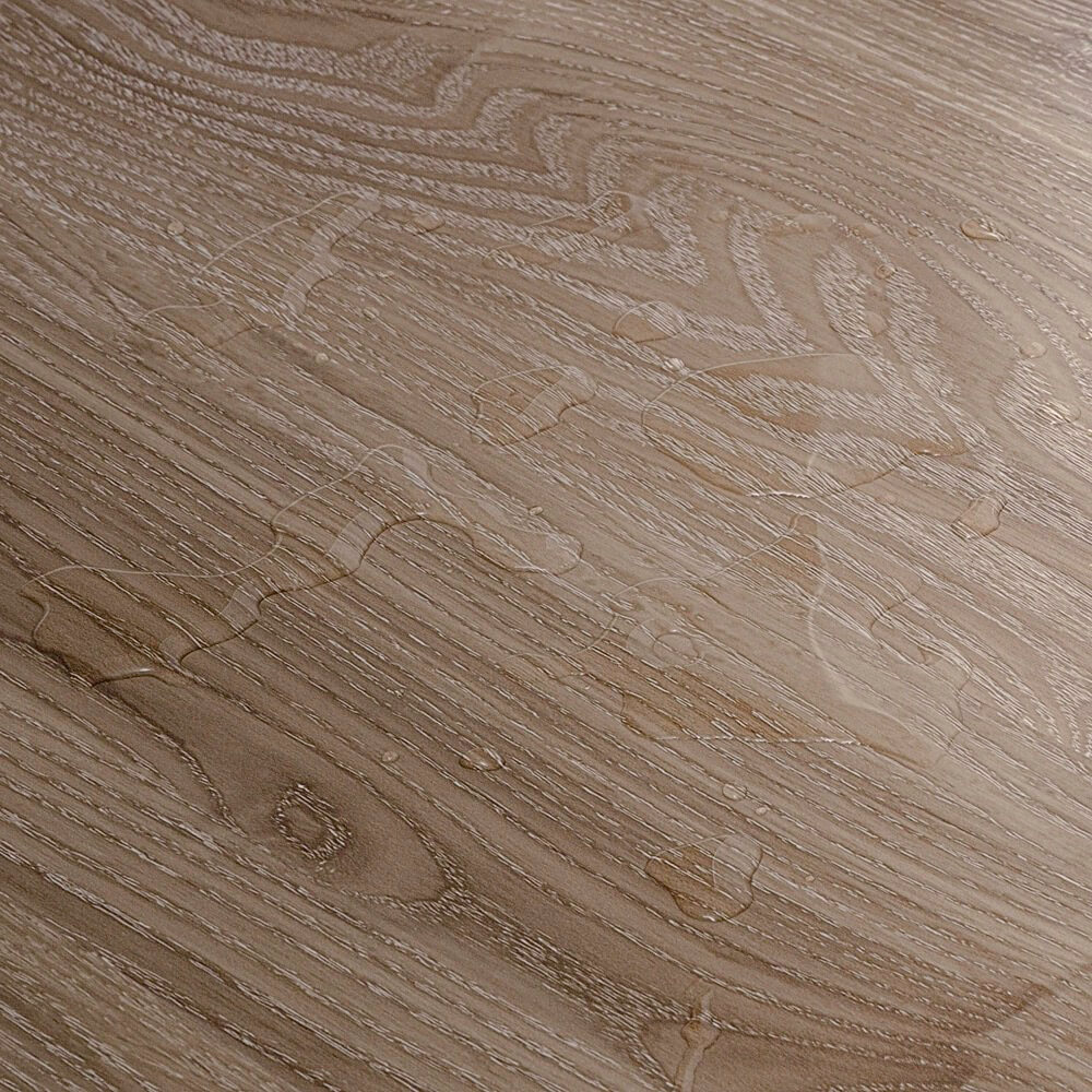 Closeup view of a floor with Aspen vinyl flooring installed