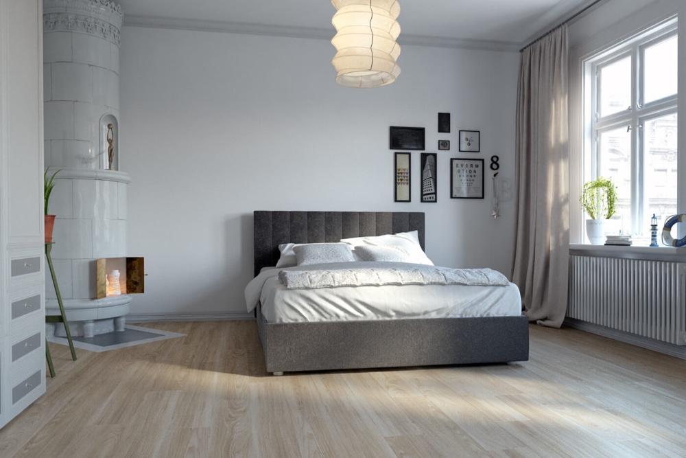 Closeup view of a floor with Aspen vinyl flooring installed