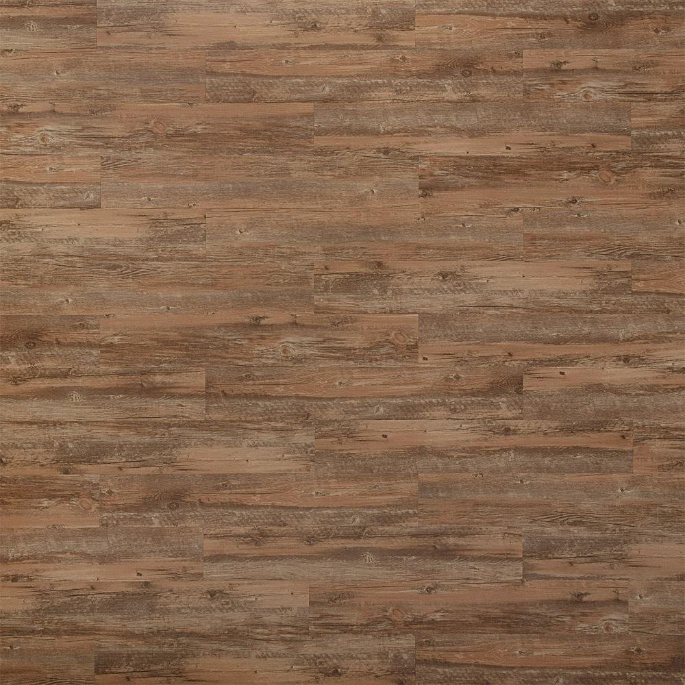 Closeup view of a floor with Poplar vinyl flooring installed