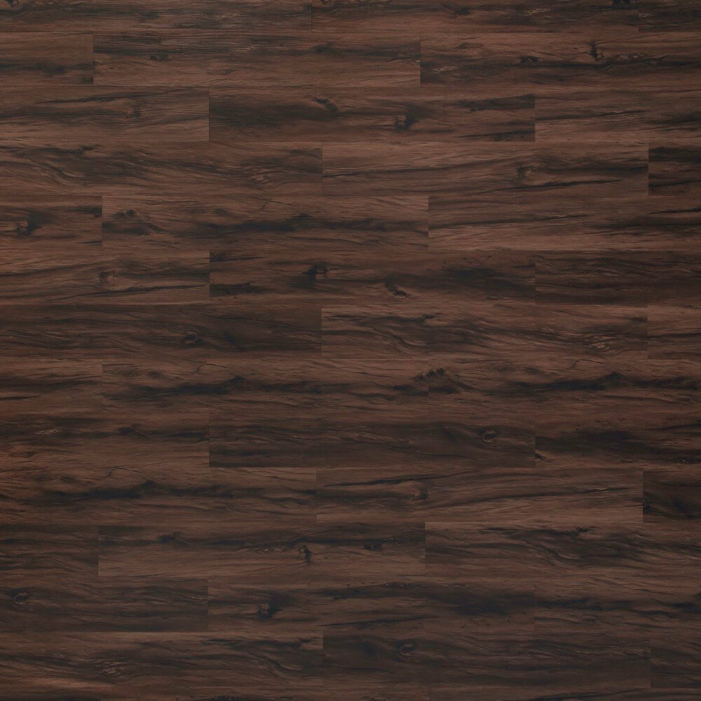 Closeup view of a floor with Eastern Walnut vinyl flooring installed