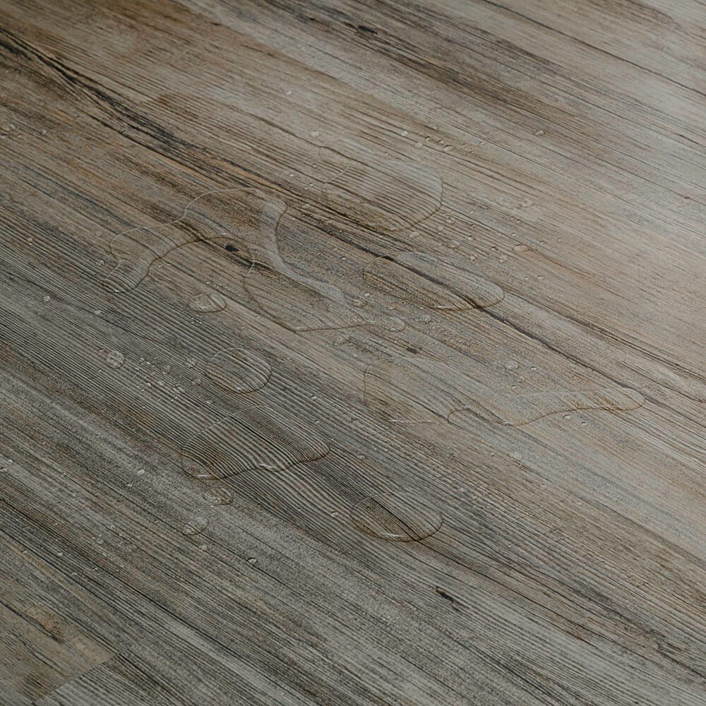 Closeup view of a floor with Durango vinyl flooring installed