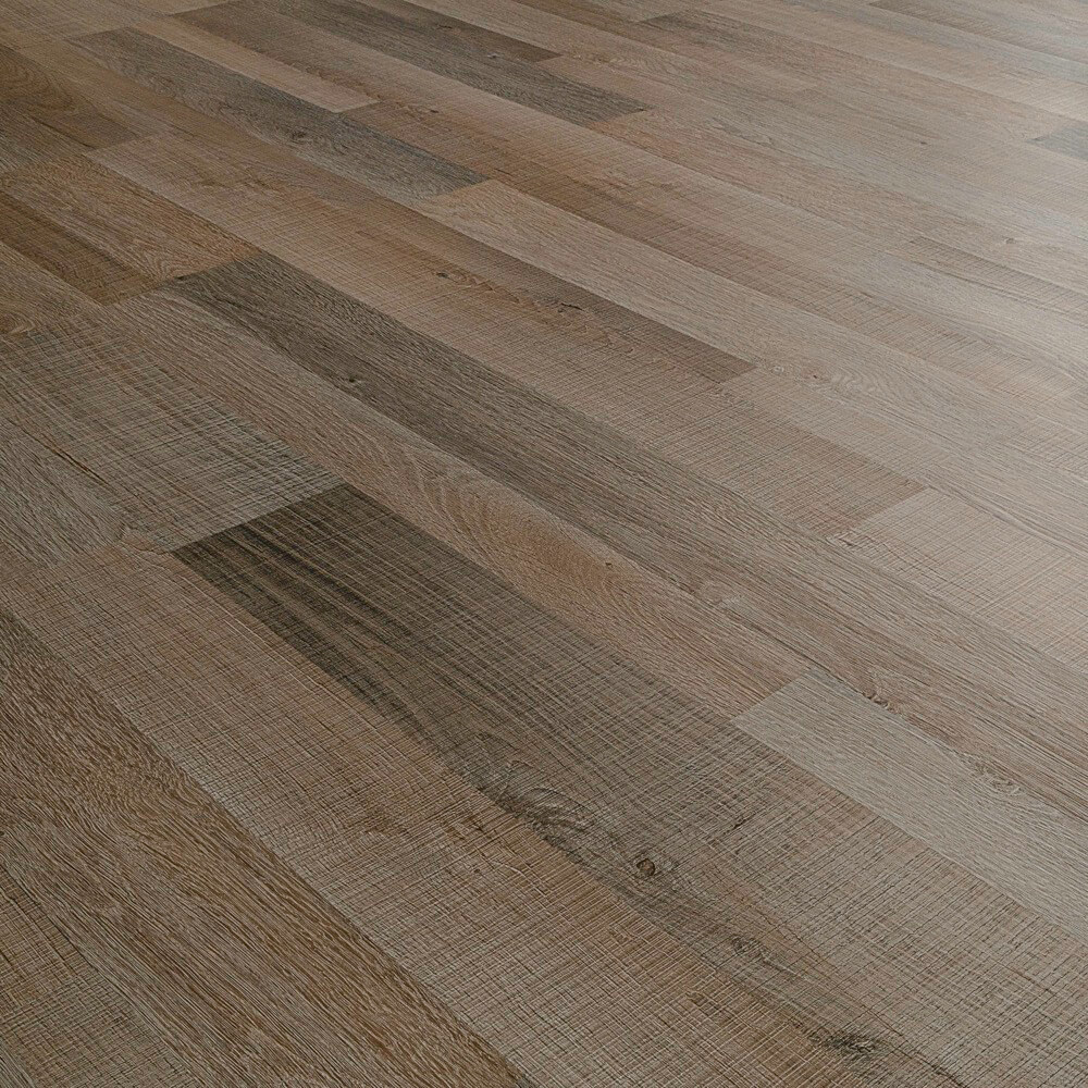 Closeup view of a floor with Union Ridge vinyl flooring installed
