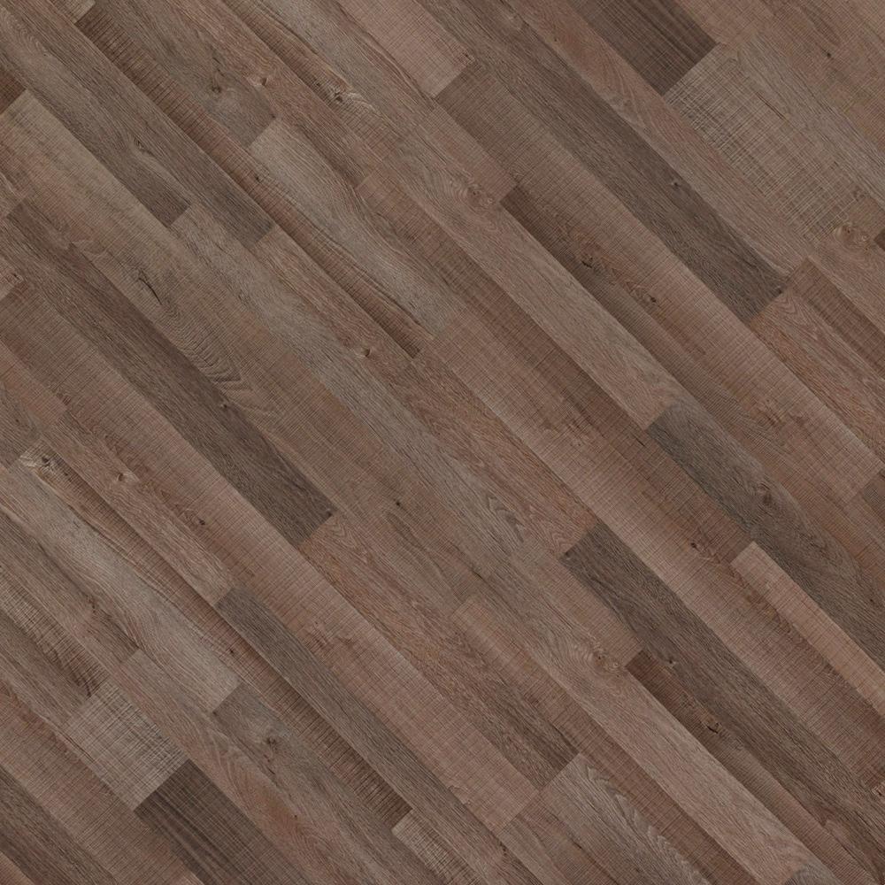 Closeup view of a floor with Union Ridge vinyl flooring installed