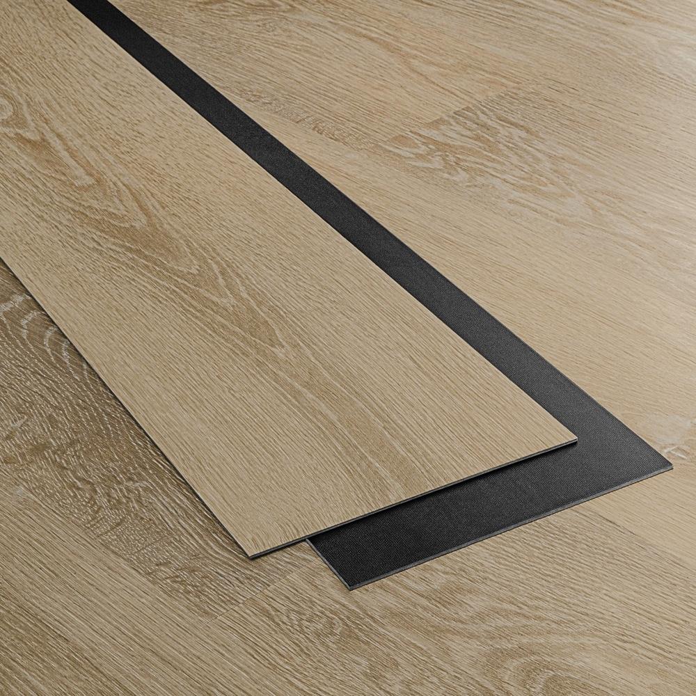 Closeup view of a floor with Yosemite vinyl flooring installed