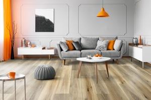 Example of a room using Meadow vinyl flooring (SKU: 2105) in the Studio Gluedown Floor product line