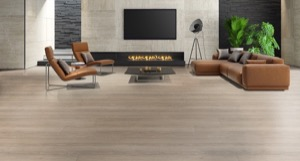 Example of a room using Winter Day vinyl flooring (SKU: 3804) in the SurfaceGuard product line