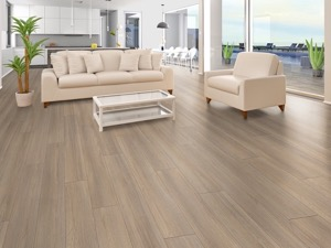 Example of a room using Scandinavian Brown vinyl flooring (SKU: 3806) in the SurfaceGuard product line