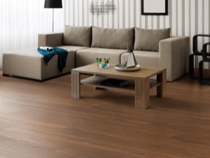 Example of a room using Copper Oak vinyl flooring (SKU: 3809) in the SurfaceGuard product line