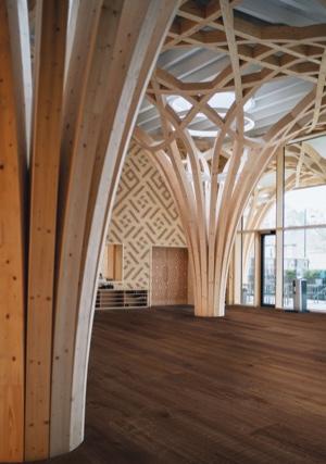 Example of a room using Bridgeport vinyl flooring (SKU: 7102) in the Level Seven product line