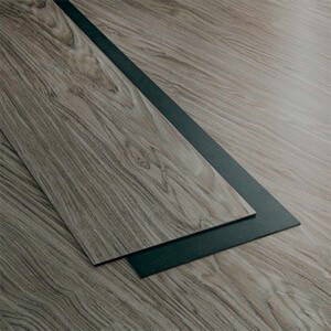 Example of a room using Midland Grey vinyl flooring (SKU: 8050) in the Main Street product line