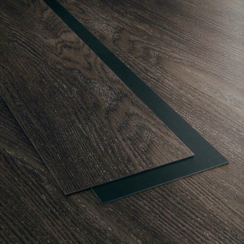 Product image for Midnight Grey vinyl flooring plank (SKU: 7030) in the Level 7 product line from Urban Surfaces